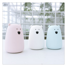 $enCountryForm.capitalKeyWord Australia - Bear LED Night Light Colorful Silicone Nursery Lamp for Kids Children Babies Bedroom Living Room Decoration