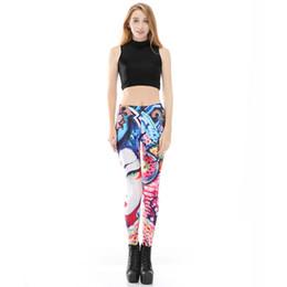 Girls Graffiti Leggings Australia - The Latest Gothic Girl Printed Leggings Fashion Novel and Simple Hot Pants Flexible Graffiti Trousers High Quality Plus Size 4XL for Women