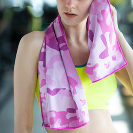 Ice cold scarf online shopping - 100 cm Ice Cold Towel Cooling Towels Summer Sunstroke Sports Yoga Exercise Cool Quick Dry Soft Breathable Towels Magic Scarves GGA2272