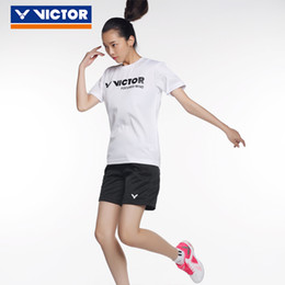 $enCountryForm.capitalKeyWord Australia - Victor Quick Dry Badminton Shirts For Ladies Women Short Sleeve O Neck Tennis T-shirt Men Sport Jersey Sportswear For Lover