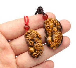 woman talisman pendant NZ - Natural jade pendant Tiger eye stone jade pendant men and women models couple jade necklace jewelry