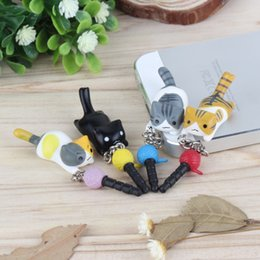 earphone stopper Australia - Super Cute Dust Plug Lucky Cat Playing Ball 3.5mm Anti Dust Earphone Jack Plug Stopper Cap For Phone