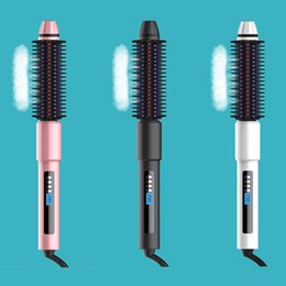 Straightening iron combS online shopping - Original Cinsmile Steam Hair straightener Ceramic Vapor Flat Iron Steampod Straightening Comb Brush Suitable for all types of hair