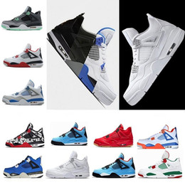 dd679515b74 Cheap 4 4s Men Women basketball shoes Cement Oreo Black Cat Fire Red Green  Glow Motosports Blue Oreo Pure Money Raptors Royalty Sneakers