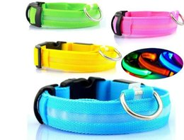 $enCountryForm.capitalKeyWord Australia - NEW Nylon LED Pet Dog Collar,Night Safety Flashing Glow In The Dark Dog Leash,Dogs Luminous Fluorescent Collars Pet Supplies WL428