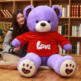 $enCountryForm.capitalKeyWord Australia - Wholesale- 140cm Huge big America bear Stuffed animal teddy bear cover plush soft toy doll pillow cover kids baby adult gift