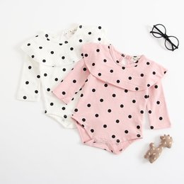 $enCountryForm.capitalKeyWord Australia - Newest Toddler Baby Girls Polka Dot Rompers Long Sleeve Tuffles Turn-down Collar Fall Newborn Cotton Kids Boys Onesies Lovely Girl Jumpsuit