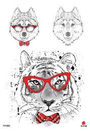 $enCountryForm.capitalKeyWord NZ - Temporary Tatoo Fake Tattoo Sticker Cartoon Cute Dog Wolf Cool Tiger Tattoos Tatouage Waterproof Flash Tatto For Men Women Girl