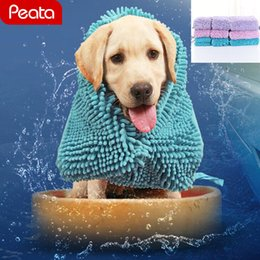 $enCountryForm.capitalKeyWord NZ - Pet Drying Towel Soft Bath Pet Towel for Dog Cat Hoodies Puppy Super Absorbent Bathrobes Cleaning Bath Supplies Z