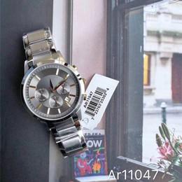 ar batteries 2019 - 2019 Luxury AR men's quartz watch ar11047 fashion stainless steel wristwatch casual business watch relogio masculin