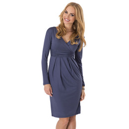 2e58e634fa2 AAMIKAST Bodycon V-neck Long Sleeve Knee-length New Fashion Women Dresses  Spring Autumn Winter Party Cocktail Casual Dresses