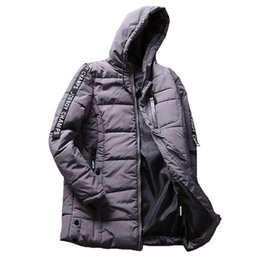 Grey Cotton Jacket Australia - Brand Clothing Parka Men Winter Middle Length Jacket Thick Cotton-padded Jackets Keep Warm Parkas Male Casual Coat Dropshipping