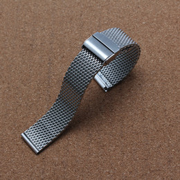 quality 22mm bracelet Australia - High Quality 18mm 20mm 22mm Wristband Fashion Silver Unisex Wrist Watch Stainless Steel shark Mesh Band Strap Milanese Watchband