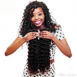 wet curly human hair 2019 - Peruvian Virgin Hair Deep Wave 8A 100% Peruvian Hair Deep Wave Weave Bundles Wet And Wavy Deep Curly 4Pcs Human Hair Bun