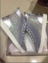 b351b10989f5 2019 Original vogue New Graffiti Red Bottom Sneakers for Men Women Luxury  Designer with Rhinestones Rantus Orlato Flat Mens Shoes Leisure Tr