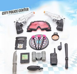 Dart Toys Australia - [TOP] 16pcs set City police certer toy airsoft super power Police arrested thief game Pistol,interphone,darts,baton,grenades