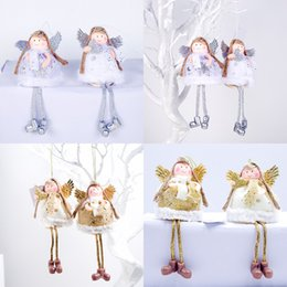 Wholesale chocolate fat online – design Kids Gifts Cute Christmas Long legs Fat belly Angel Doll Pendant Ornaments For Home Christmas Party Xmas Tree Ornaments navidad