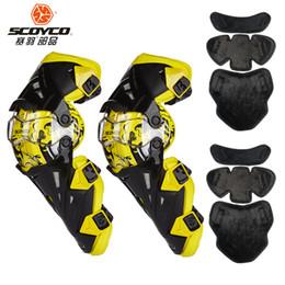 Scoyco Racing Gear Australia - SCOYCO Motorcycle Knee Protector Motocross Knee Protector Racing Guards Motorcycle Pads Motorbike Moto Protective Gear k16