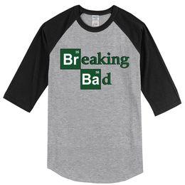 c8ee1d6bb Summer 2019 Men's T-shirt Three Quarter Sleeve Tops Print Breaking Bad  Fashion Hip Hop T Shirt Harajuku Men Kpop Raglan Tshirt