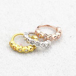 $enCountryForm.capitalKeyWord NZ - 10pcs Body Jewelry Piercing -NEW CZ Ear Helix Daith Cartilage Tragus Earring Nose Septum Ring Bend Shine 18gX8mm