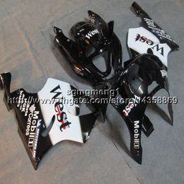 Kawasaki Zx 7r Fairings Australia - 23colors+Botls west black motorcycle cowl for Kawasaki ZX-7R 1996 1997 1998 1999 2000 2001 2002 2003 ABS Plastic motor Fairing
