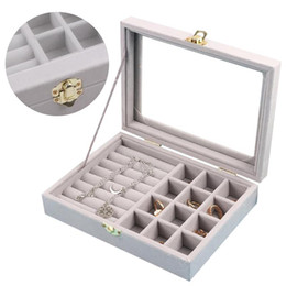 windows packages 2019 - Jewelry Storage Box Exquisite Travel Jewelry Box Rectangle Packaging Necklace Rings Earrings Storage Organizer Windows D