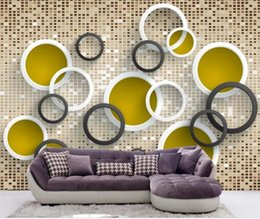 circle vintage glasses Australia - custom size 3d photo wallpaper living room mural colour glass bricks 3D circle picture sofa TV background wall wallpaper non-woven sticker