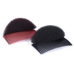 braided buns black hair 2019 - Black cee Combs Women Fashion Women Hair Combs Ornaments Bun Maker Braid Diy Tool Hair Accessories