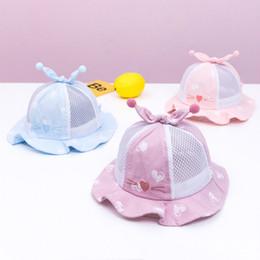 22411947080519 Baby Love Cat Print Cotton Cap Summer Outdoor Newborn Toddler Sunhat Baby  Sun Beach Cap Infant Bucket Hat for 6-18 Months