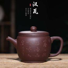 $enCountryForm.capitalKeyWord NZ - 280CC Yixing Purple Sand Pot New Product Purple Clay Hanwa Pot Rain Sand Wholesale Customized Logo Teapot