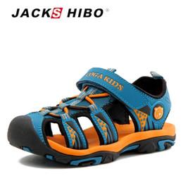 $enCountryForm.capitalKeyWord Australia - Jackshibo Kid Summer Beach Boy For Children Sandals Close Toe Anti-skid Cut-outs Outdoor Water Boys Shoes Q190601