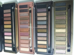 nude palette 12 Canada - In stock!Hot Brand Makeup Eye Shadow nude 12 color eyeshadow palette 1. 2 .3 .5 .Heat cherry eye shadow palette Honey Eyeshadow Palettes