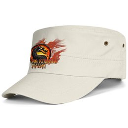 $enCountryForm.capitalKeyWord Australia - Womens Mens Flat-along Adjustable 3D Mortal Kombat Logo Rock Punk Cotton Baseball Hat Summer Travel Hats Flat Top Hat Airy Mesh Hats For Me