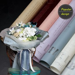 Transparent Gift Wrapping Paper Australia - 150pc Popular Design Flower Packaging Paper Plastic Matte Transparent Packag Material Paper Bouquet Florist Gift Wrapping Paper