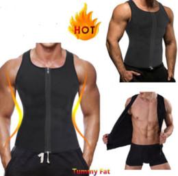 2df2a7afdab342 Hot Shapers Mens Fitness Compression Slimming Tank Shaper Vest Waist  Trainer T Shirt Zipper Hot Body Shaper Fat Burner Shapewear A42602