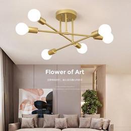 JESS Moderne LED Plafonnier Lustre Éclairage Salon Chambre Lustres Créative Accueil Luminaires Appareils AC110V / 220V Livraison Gratuite en Solde