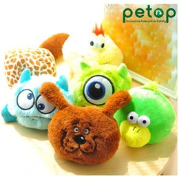 pet toy wholesale Canada - Electric Cute Little Monster Plush Toy, Cartoon Stuffed Animal, Vibrate& Make a Sound Pet Dog Toy, for Ornament, Xmas Kid Birthday Gift, 2-2
