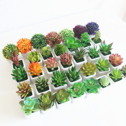 craft plastic flowers NZ - New Diverse Miniature Succulents Simulation Bonsai Plant Set DIY Plastic Fake Flower Craft Decor Ornament Garden Home Delicate