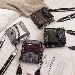 $enCountryForm.capitalKeyWord NZ - PU Leather Women Crossbody Messenger Bag Fashion Shoulder Bag Small Female Handbag Sequins Bling Bling Hand Bag Flap