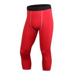 898f0a945f751 Quick dry Compression Base Layer Men Sport Tights Skin Wear Running Pants  Trousers Fitness Gym Pants Candy Color