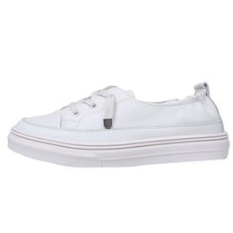 Comfortable Soft Women Shoes UK - HEE GRAND Women Casual White Shoes Summer 2019 Soft PU Leather Sneakers Spring and Autumn Comfortable Slip on Flats XWD7758