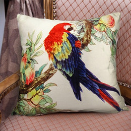 $enCountryForm.capitalKeyWord Australia - Parrot Birds Love Cushion Covers 3D Stereo 45X45cm Decorative Pillow Covers Soft Luxury Throw Pillows Cases Sofa Chair Decoration