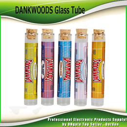 Dry cartriDge online shopping - Newest DANKWOODS Empty Glass Tube Wood Cork Tips Cartridges Dry Herb Herbal RAW With Flavors Stickers Packwoods E Cigarettes Vapor Tubes