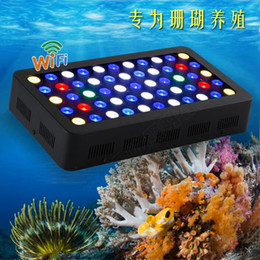 marine fish lighting NZ - HOT WIFI 165w Led Aquarium Light Dimmable For Coral Reef Fish Plant Full Spectrum Marine Aquarium Led Lamp CN USA DE Stock