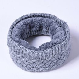 $enCountryForm.capitalKeyWord UK - New Parent-child Ring Scarves Winter Kids Scarf Women Men Collar Neck Scarves Twist Striped Cotton Blends Ring for Boys Girls