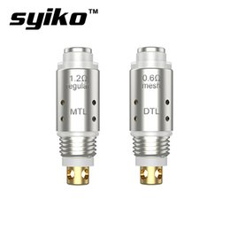 $enCountryForm.capitalKeyWord Australia - 5pcs pack Syiko Galax Replacement Coil with 1.2ohm regular coil & 0.6ohm Mesh coil for Syiko Galax Kit MTL  DL vaping Authentics