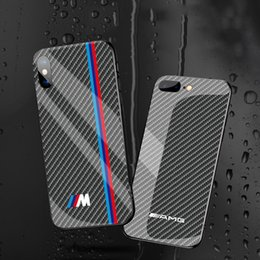 Logo For Iphone Australia - Car Logo Phone Glass Case Phone Cover for Iphone 6 6s 7 8 Plus X Xs XR Cell Phone Case Cover