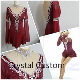 Red Skating Dresses Australia - Girls Figure Skating Dress New Brand Ice Skating Dresses Custom-made For Competition DR4830