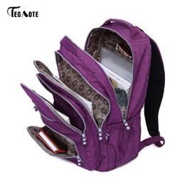 $enCountryForm.capitalKeyWord Australia - Tegaote School Bag Waterproof Nylon Brand Laptop Backpacks For Teenager Women Backpack Leisure Shoulder Bags Computer Packsack Y19061004