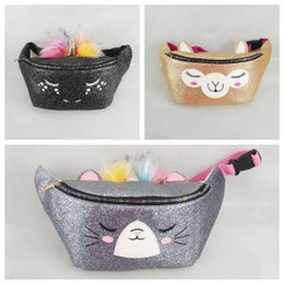 Camping paCks online shopping - Unicorn Sequins Waist Bag Women PU Mermaid Glitter Fanny Pack Cartoon Shoulder Satchel Bag Outdoor Waist Packs OOA6349